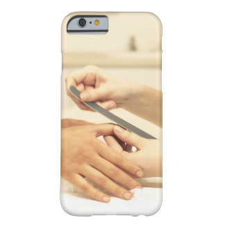 Close up of manicure barely there iPhone 6 case