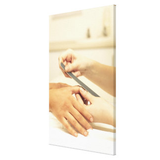 Close up of manicure canvas print