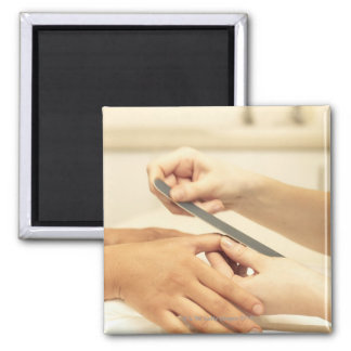 Close up of manicure magnet