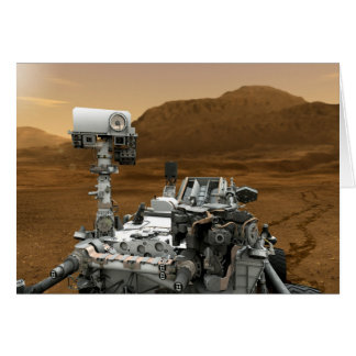 Close-up of Mars Curiosity Rover Greeting Card