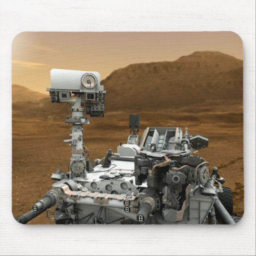 Close-up of Mars Curiosity Rover Mouse Pad