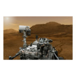 Close-up of Mars Curiosity Rover Poster
