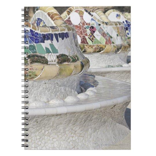 Close-up of Mosaics on Gaudi Building, Parc Notebook
