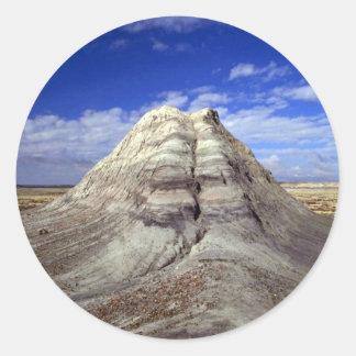 Close-up of mound, Long Logs area, Arizona Classic Round Sticker