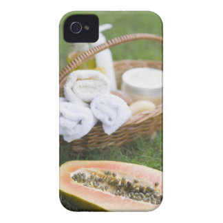 Close-up of papaya massage therapy treatment iPhone 4 Case-Mate case