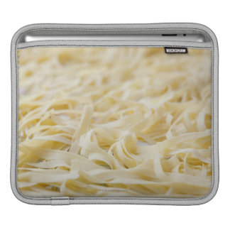 Close up of pasta noodles iPad sleeves