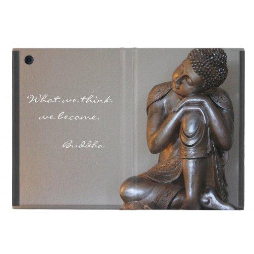 Close up of peaceful silver Buddha iPad Mini Covers