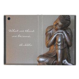 Close up of peaceful silver Buddha iPad Mini Cover