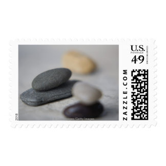 Close-up of pebbles postage stamp