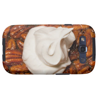 close up of pecan pie with whipped cream galaxy SIII case