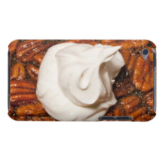 close up of pecan pie with whipped cream iPod touch case