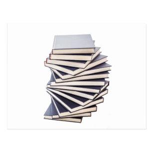 book piles postcards zazzle