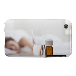 Close up of pill bottle with sick woman in Case-Mate iPhone 3 case