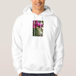Close Up of Pink Cactus Flowers Hoodie