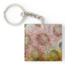Close Up Of Pink Coral Keychain