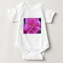 Close up of Pink Flower Baby Bodysuit