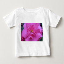 Close up of Pink Flower Baby T-Shirt