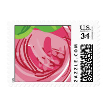 Close up of pink flower postage