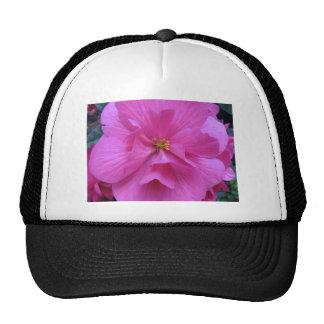 Close up of Pink Flower Trucker Hat