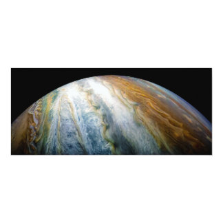 Close up of Planet Jupiter from Juno flyby (2017) Card
