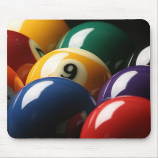 Close Up of Pool Balls Mouse Pad
