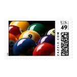 Close Up of Pool Balls Postage