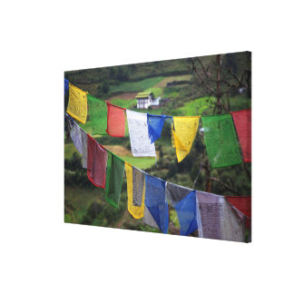 Close Up Of Prayer Flags Canvas Print