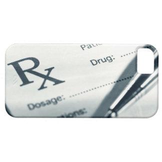 Close up of prescription pad and pen iPhone SE/5/5s case