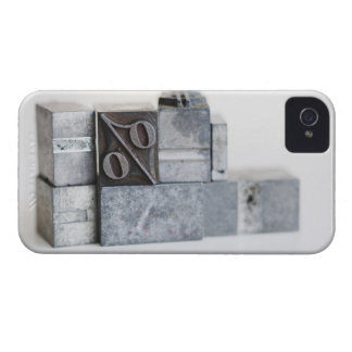 Close up of printing blocks with percentage sign iPhone 4 Case-Mate case