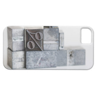 Close up of printing blocks with percentage sign iPhone SE/5/5s case