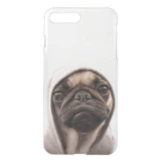 Close up of pug wearing hoodie. iPhone 8 plus/7 plus case