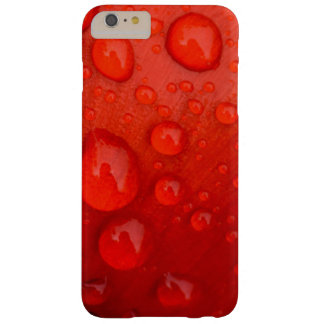 Close-up of raindrops on tulip petal barely there iPhone 6 plus case