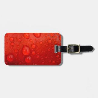 Close-up of raindrops on tulip petal luggage tags