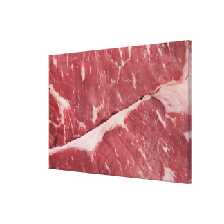 Close-up of raw steak gallery wrapped canvas