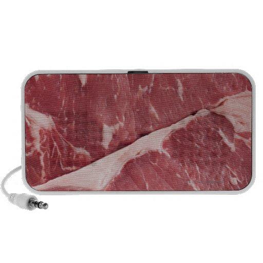 Close-up of raw steak portable speaker