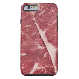 Close-up of raw steak tough iPhone 6 case