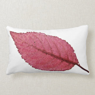 Close-Up Of Red Leaf Throw Pillow