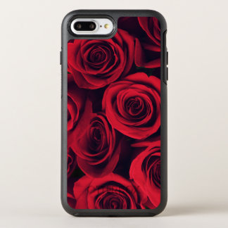 Close up of red rose flowers. OtterBox symmetry iPhone 7 plus case