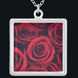 """Close up of red rose flowers. silver plated necklace<br><div class=""""desc"""">AssetID: 114514567 / Jon Schulte / Close up of red rose flowers.</div>"""