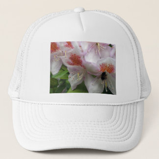 Close up of Rhododendron with Bee Trucker Hat
