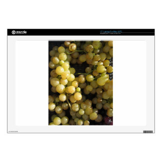 Close-up of ripe grapes in box laptop skins