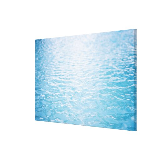 Close up of rippled water, Miami, FL 2 Stretched Canvas Print