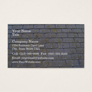 Close-Up Of Roof Tiles With Lichens Business Card