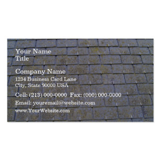 Close-Up Of Roof Tiles With Lichens Double-Sided Standard Business Cards (Pack Of 100)