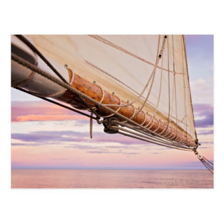 Close-Up Of Sail And Ropes | Maine, Camden Postcard