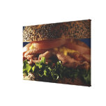 Close-up of sandwich canvas print