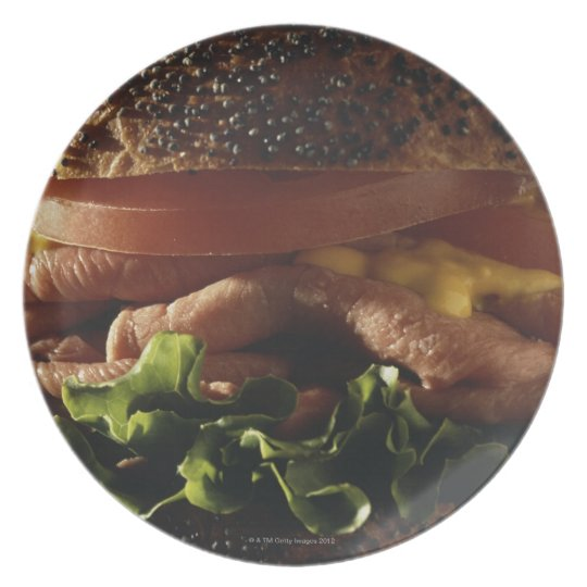 Close-up of sandwich dinner plate