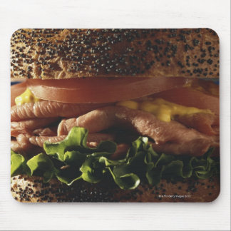 Close-up of sandwich mouse pad