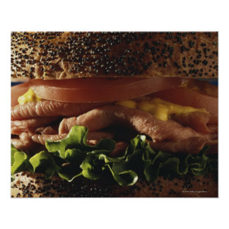 Close-up of sandwich print