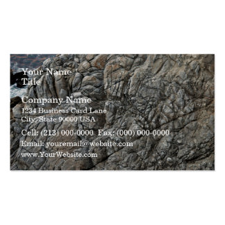 Close-up of Seamless Rock Texture Business Card Template